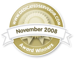 November 2008 - Reseller Hosting Award Winner